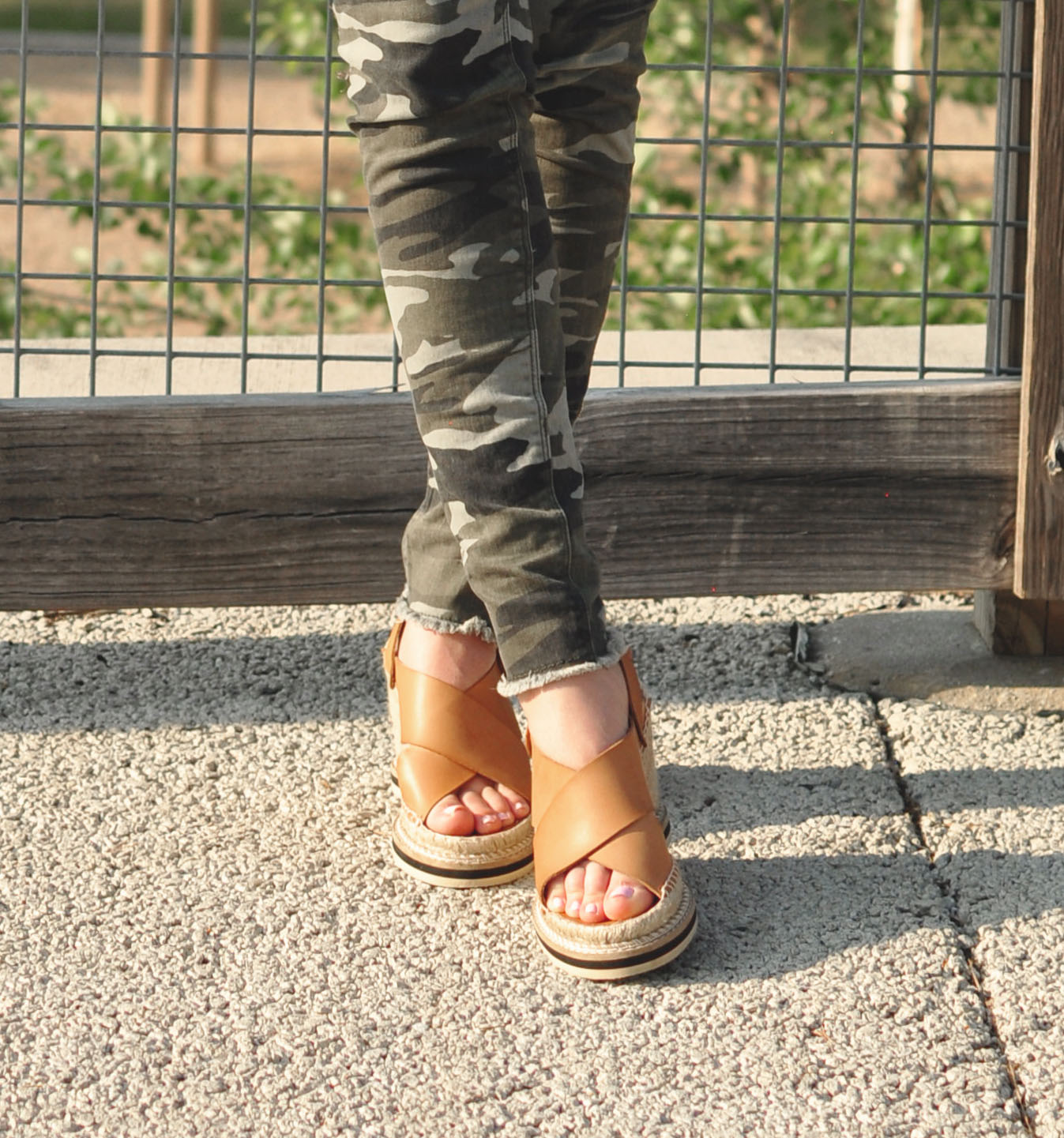Andre Assous Wedges - Style Blogger Erica Valentin
