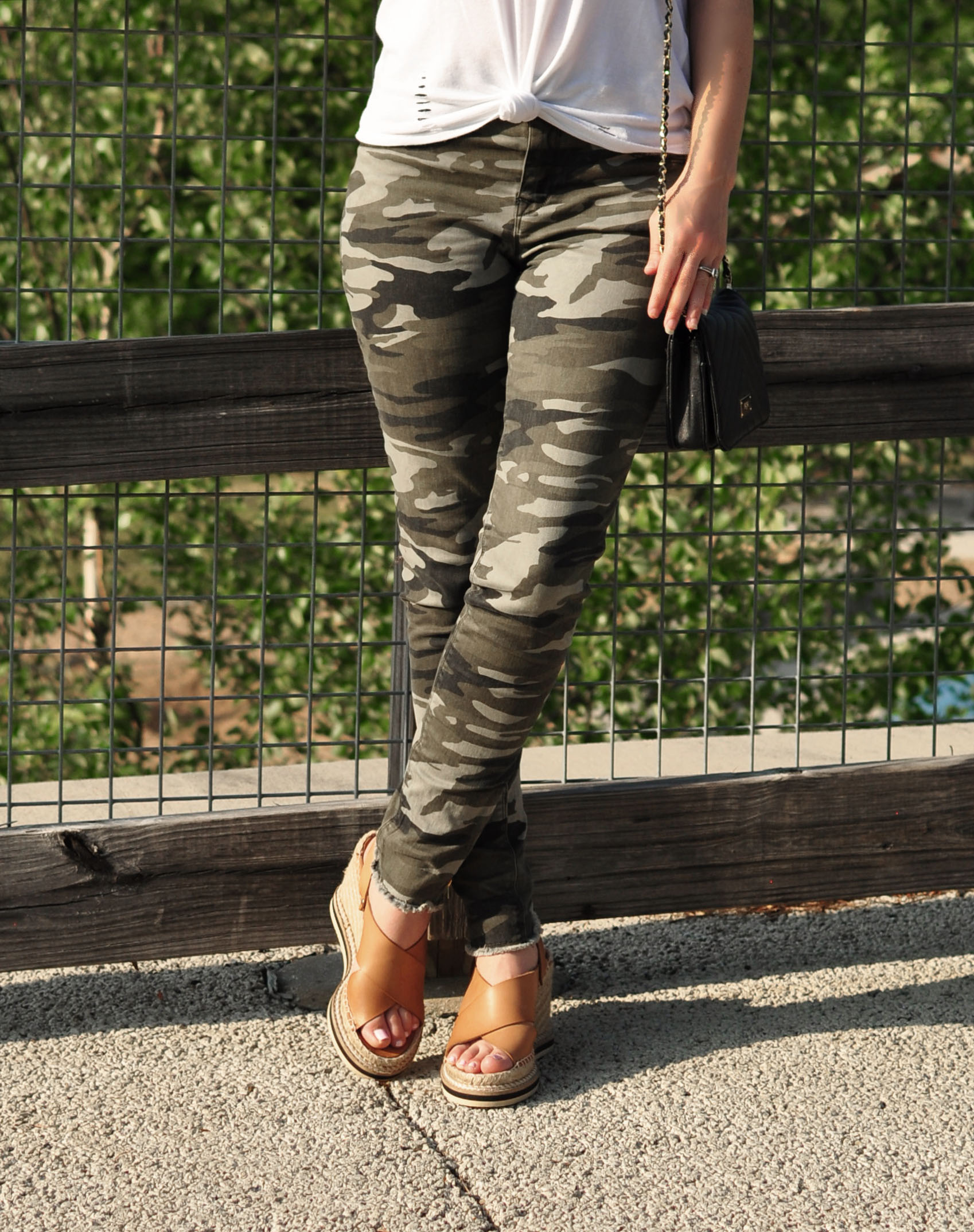 Express Camo Skinny Jeans - Style Blogger Erica Valentin