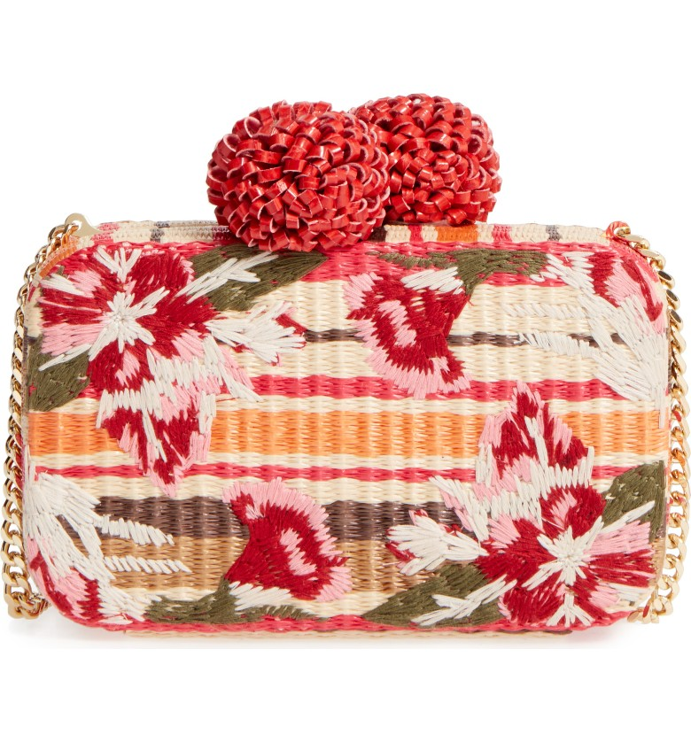 Summer Handbags - Sam Edelman Straw Clutch - Erica Valentin -Atlanta Style Blogger