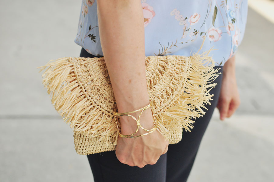 Mar Y Sol Straw Clutch - Nordstrom - Modeled by style blogger Erica Valentin