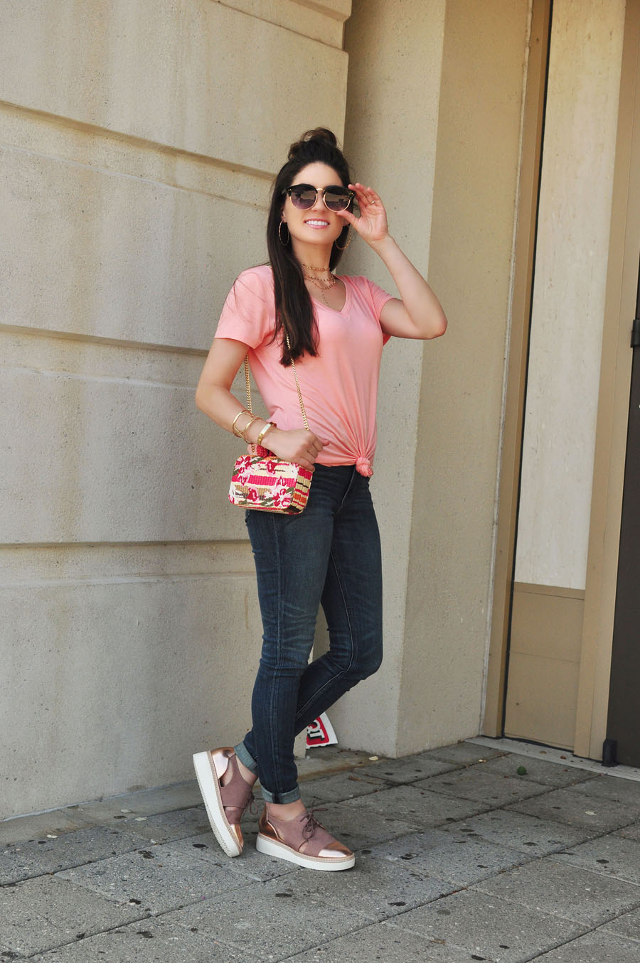 Oxfords, Jeans & Tees - Basic Summer Style - Erica Valentin - Atlanta Style Blogger