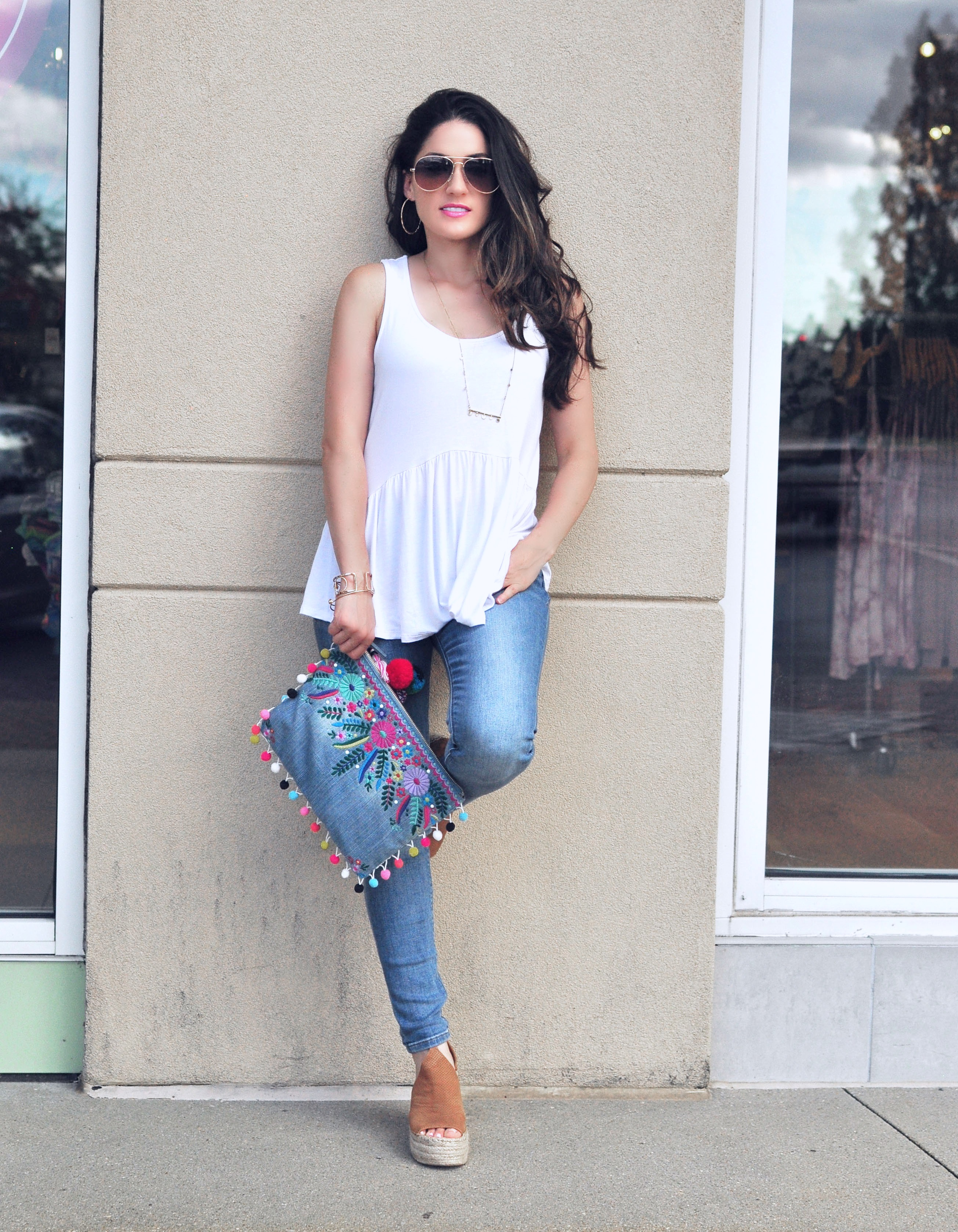 White Tee & Jeans - Style Blogger Erica Valentin