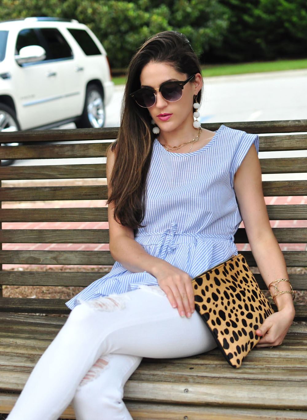 Animal Print Clutch - Nordstrom - worn by Style Blogger Erica Valentin