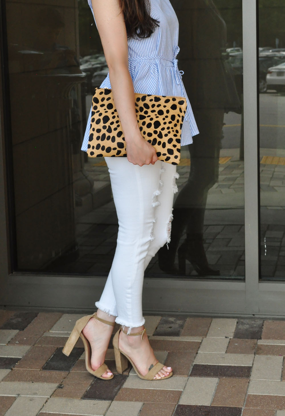 Nordstrom Animal Print Clutch worn by Style Blogger Erica Valentin