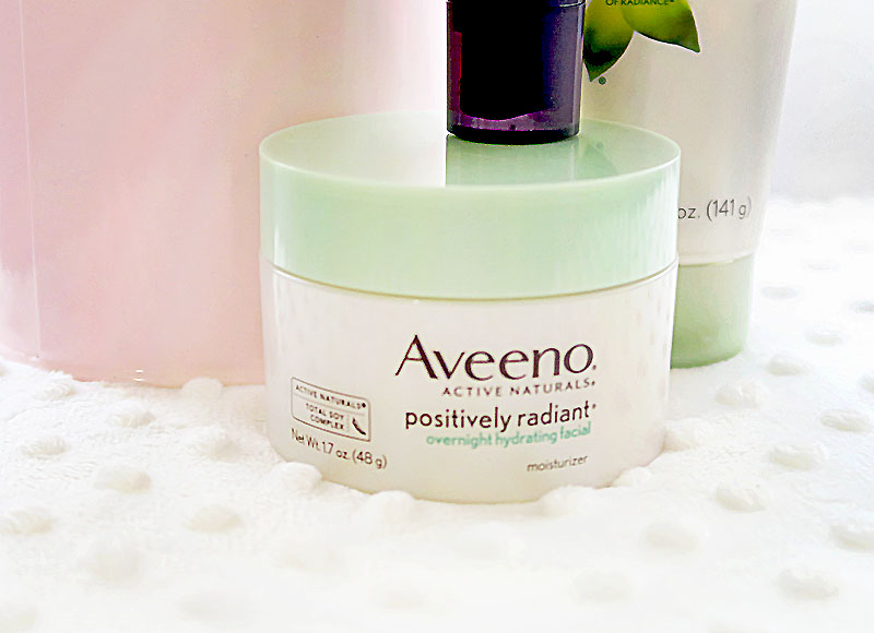 Aveeno Positively Radiant® Overnight Hydrating Facial - Style Blogger Erica Valentin
