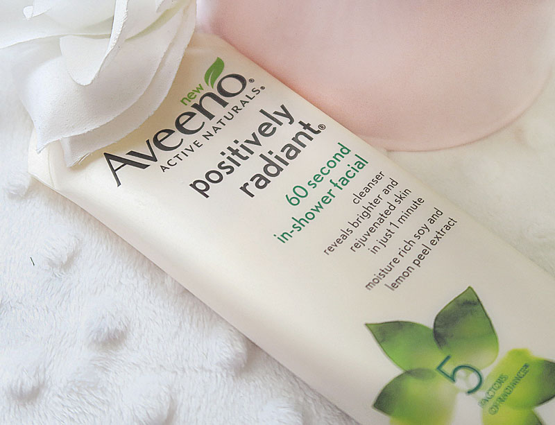 Aveeno Positively Radiant® 60 Second In-Shower Facial - Style Blogger Erica Valentin